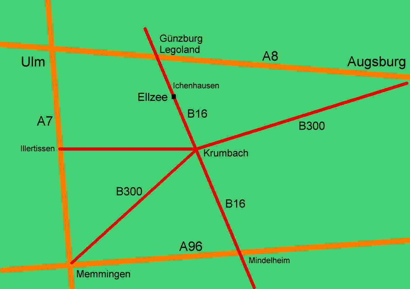 anfahrt ferienwohnung n he legoland deutschland bei g nzburg ferienwohnung ferienhaus g nztal. Black Bedroom Furniture Sets. Home Design Ideas